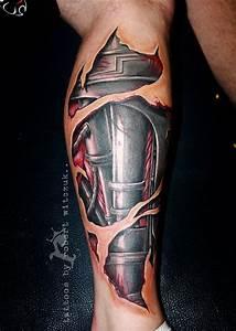 Terminator Leg Tattoos by Robert Witczuk | colour tattoos ...