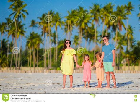 Family Having Fun On Beach Vacation Royalty-free Stock Photo