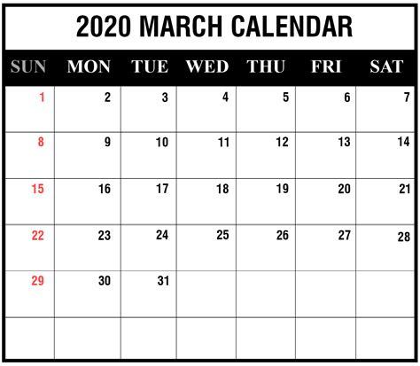 march calendar printable templates excel word