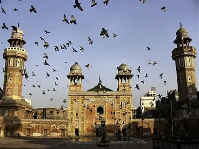 Lahore Pakistan Mosque Khan Wazir Flying Pigeons