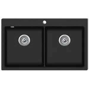 vidaxl co uk overmount kitchen sink double basin granite