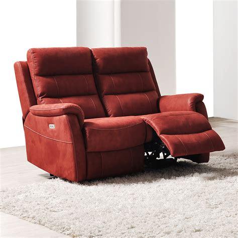 canape relax 2 places canape relax lectrique 2 places en tissu sofamobili