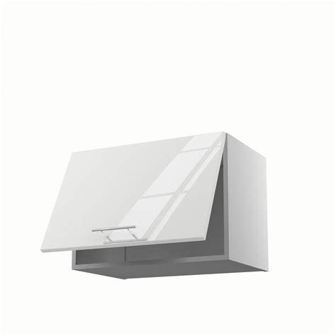 leroy merlin meubles de cuisine meuble de cuisine haut sur hotte blanc 1 porte h 42 x