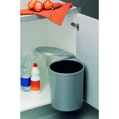 poubelle cuisine porte poubelle de porte automatique 1 seau de 12 litres wesco