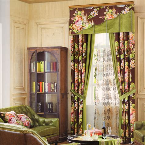 floral heavy velvet curtains for dining room no valance