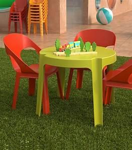 Table Et Chaise Jardin : ensemble 4 chaises et table enfant de jardin en plastique ~ Teatrodelosmanantiales.com Idées de Décoration