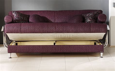 Stylish Sleeper Sofa by Stylish Living Room With Storage Sleeper Sofa In Burgundy