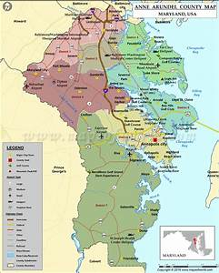 Anne Arundel County Map, Maryland