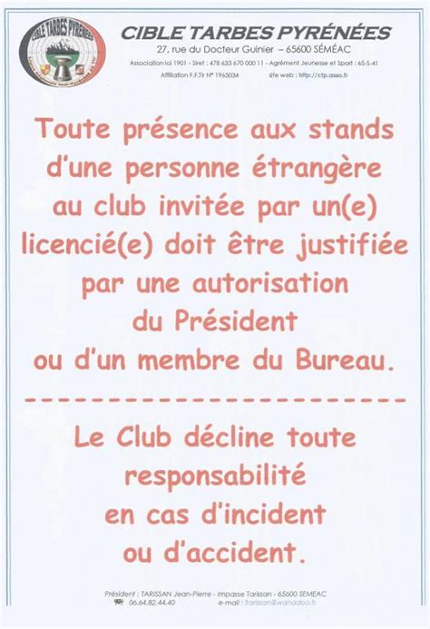 r 232 glement club du ctp
