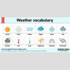 Weather Vocabulary In English  Learn With Games Pictures