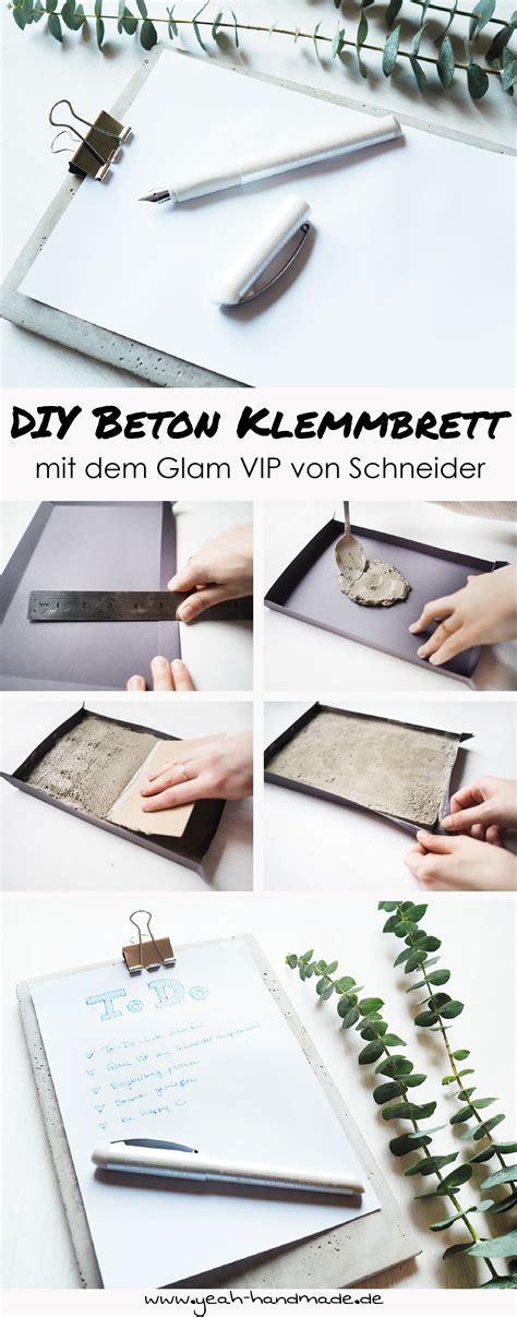 Wie Organisiere Ich Meinen Haushalt Besser by Anzeige Diy Klemmbrett Aus Beton Mit Dem Glam Vip