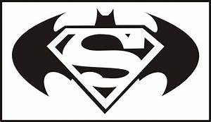 Black Superman And Batman Logo Tattoo Stencil By Pipe motaS