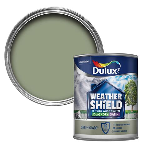 dulux weathershield exterior glade green satin wood