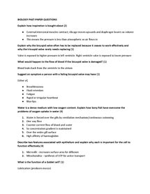 wjec biology  revision sheets assorted  paper question  answers document