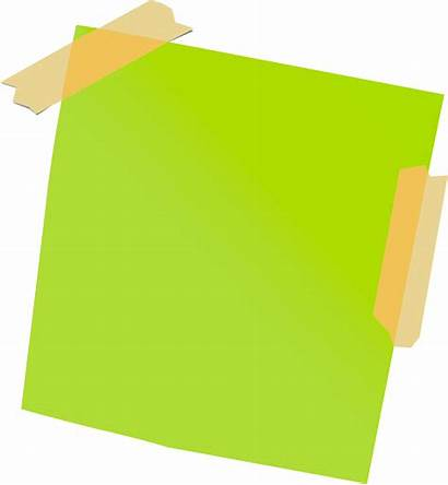 Sticky Note Transparent Tape Clipart Notes Taped