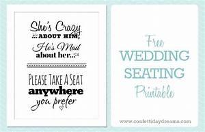 Free printable wedding download pick a seat sign weddbook for Free printable wedding signs
