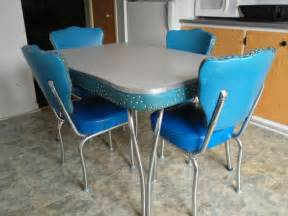 vintage blue kitchen table the interior design