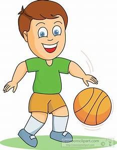 Basketball Clipart : boy_playing_basketball : Classroom ...