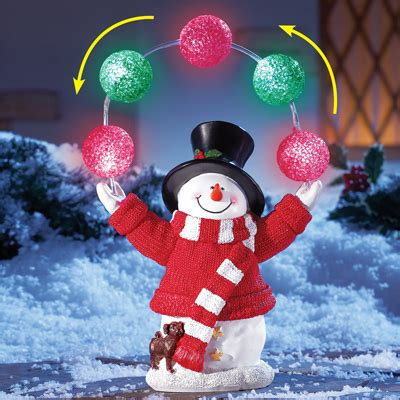 solar holiday juggling snowman  collections
