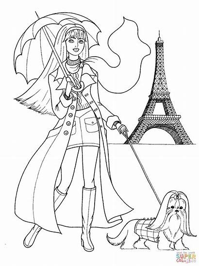 Coloring French Pages Printable Paper