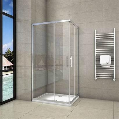 Shower Sliding Door Glass Corner Entry Walk