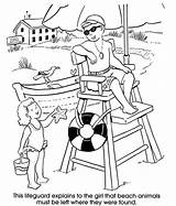 Lifeguard Coloring Pages Beach Sheets Drawing Stand Colouring Chair Adult Printable Summer Dover Sheet Welcome Books Getcolorings Publications Preschool Getdrawings sketch template