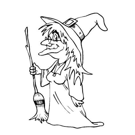 Kleurplaten Heksen by Leuk Voor Een Heks Met Een Bezem
