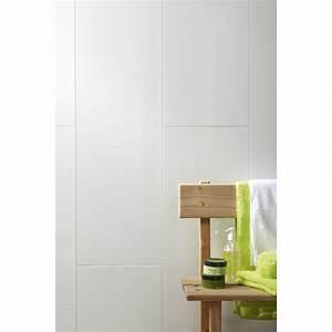 lambris pvc blanc artens artclip l260 x l375 cm x ep8 With porte d entrée pvc avec dalle murale salle de bain