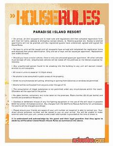 7 best images of printable house rules for roommates for House rules chart template