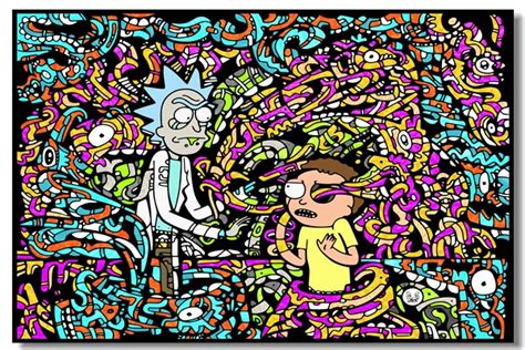 custom canvas wall murals rick and morty poster rick and morty wallpaper sticker