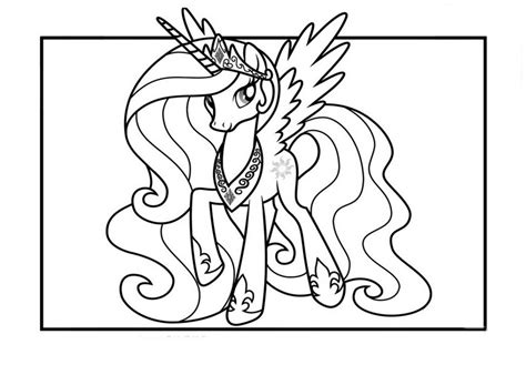Kleurplaat My Pony Princess by Princess Celestia Coloring Pages Best Coloring Pages For
