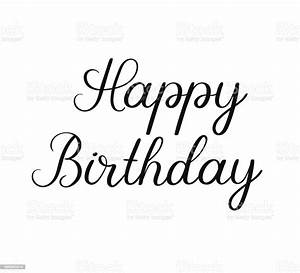 Happy, Birthday, Calligraphy, Inscription, Handwritten