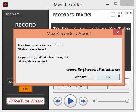 max recorder crack download