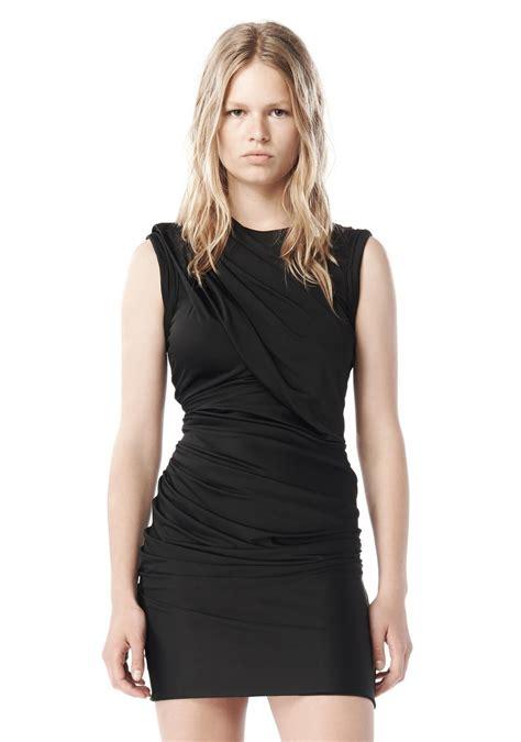 draped in lyst wang 2009 draped jersey dress in black