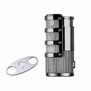 Cigar Lighters Triple Jet Flame Butane Torch Cigar