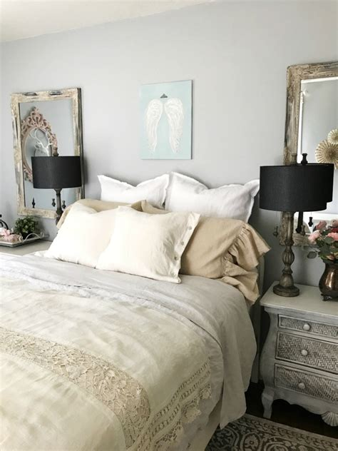 shabby chic neutral bedding my neutral shabby chic farmhouse hallstrom home