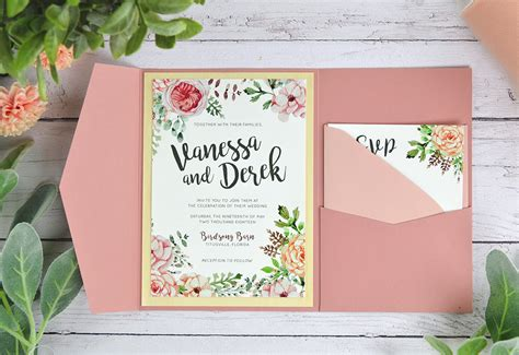 4 Ways to DIY Rustic Wedding Invitations with Wood Paper   Cards & Pockets Design Idea Blog