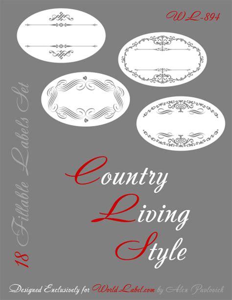 printable oval labels  template set worldlabel blog