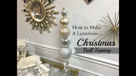 diy dollar tree hobby lobby christmas ball topiary