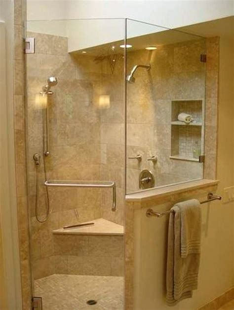 handicap accessible walk  showers  shower stalls