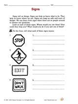 Traffic Safety Worksheets For Kindergarten  Printable Traffic Signs For Kids Doodles And