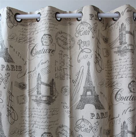vezo home print eiffel tower letter cotton linen ready