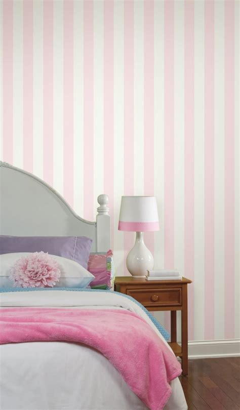 pink and white wallpaper for a bedroom pink stripe wallpaper panda s house 21139