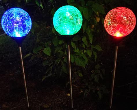 Solar Lighting : Sogrand 3pcs-pack 3color,solar Lights Outdoor,crackle