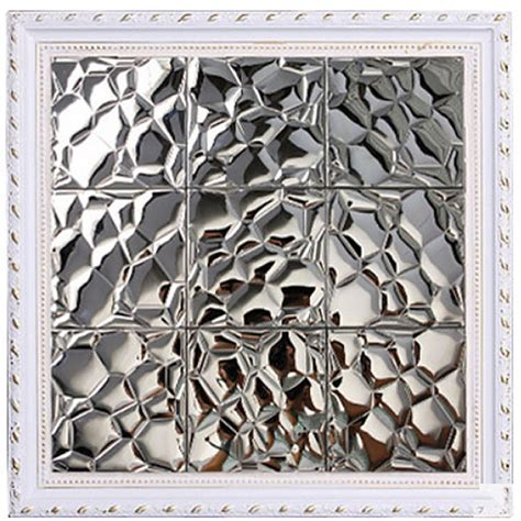 TST Stainless Steel Mosaic Tile Silver Uneven Surface