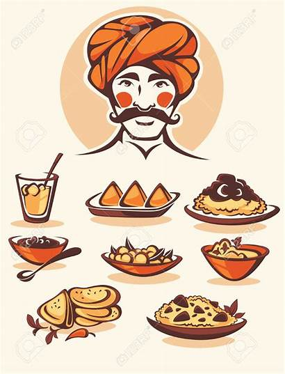 Indian Chef Traditional Clipart Indischer Indische Cartoon