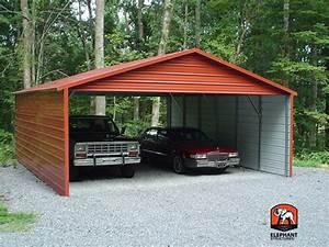 two car garage kit carportcom With 2 car steel garage kits