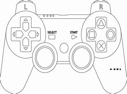 Controller Playstation Nintendo Coloring Pages Xbox Switch