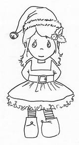 Coloring Elf Pages Cute Christmas Elves Popular sketch template