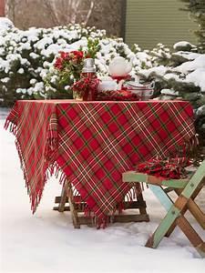 christmas plaid tablecloth linens kitchen tablecloths With christmas tablecloths and runners